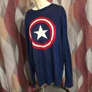 New Marvel Captain America Knitted Sweater Size L